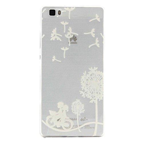 Huawei-P8-lite-HlleBONROY-Muster-TPU-Case-SchutzHlle-Silikon-Case-Tasche-Weiches-Transparentes-Silikon-Schutzhlle-Malerei-Muster-Ultradnnen-Kratzfeste-Tasche-Schutzhlle-Hlle-Case-Cover-Etui-TPU-Bumper