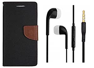 Novo Style Book Style Folio Wallet Case HTC Desire 626 Black + Earphone / Handsfree with 3.5mm jack
