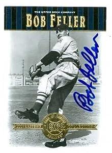 Bob Feller autographed Baseball Card (Cleveland Indians) 2001 Upper Deck Cooperstown...