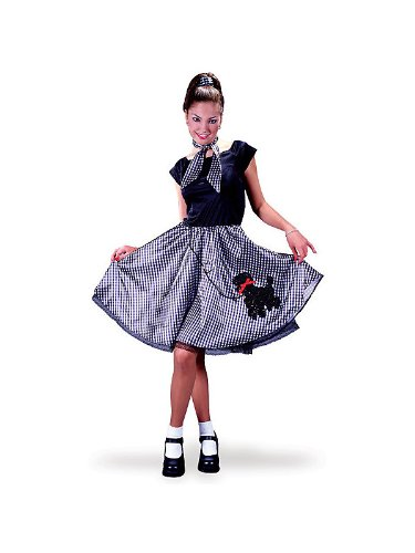 Adult Bobby Soxer 50s Costume - Womens Sm/Md (2-8)