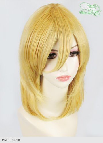 スキップウィッグ 魅せる シャープ 小顔に特化したコスプレアレンジウィッグ フェザーミディ プティング