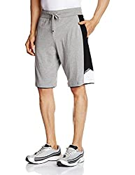 Jockey Men's Cotton Shorts (8901326104859_9415-0103-GM-BW Grey meland Black S)
