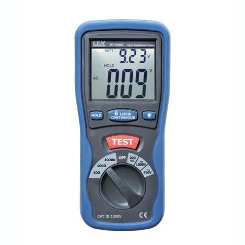 Electrical Resistance Meter : Cem dt digital electrical earth resistance tester