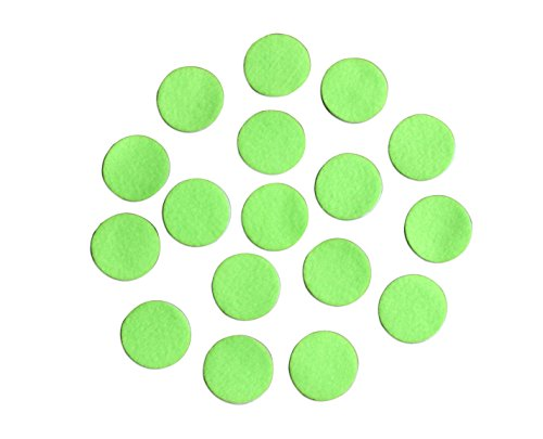 """Green Adhesive Felt Circles; Package of 48 or 240 Wholesale, 1.5"""" Wide, Die Cut Appliques; DIY Projects (48 Count)"""