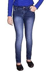 Queens Women's Slim Fit jeans(pat_ink_Ink Blue_34)