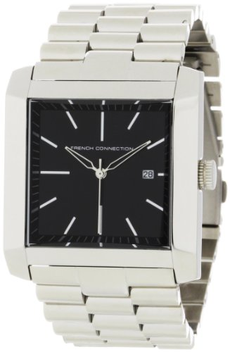 French Connection Men's FC1001B Stainless Steel Square Case Watch