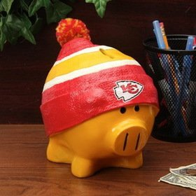Kansas City Chiefs Official NFL 13 inch x 10 inch Piggy Bank Large Hat by Forever Collectibles 736068