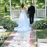RaeBella Weddings White Traditional Best Selling Personalized 100' Long Ceremony Aisle Runner