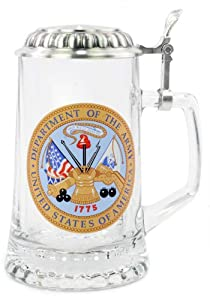 0.4 Liter US Army Glass Beer Stein