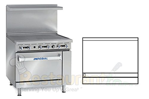 Imperial-Commercial-Restaurant-Range-36-Griddle-1-Convection-Oven-Natural-Gas-Model-Ir-G36-C