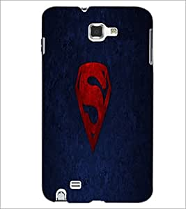PrintDhaba Superman Logo D-2334 Back Case Cover for SAMSUNG GALAXY NOTE 1 (Multi-Coloured)