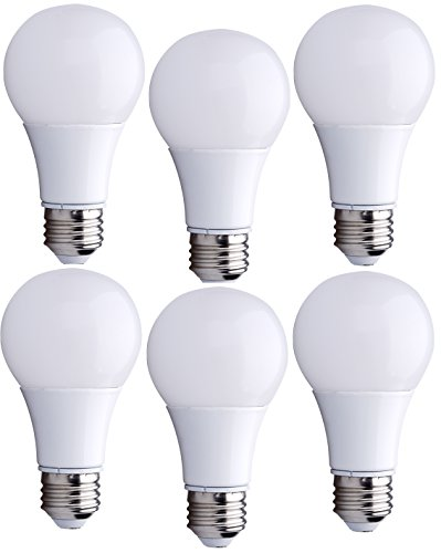 6 Pack Bioluz LED™ Instant On A19 LED Bulbs, 9 watt (60 Watt Equivalent) ECO Series Warm White (2700K) 800 Lumen LED Light Bulbs UL Listed Pack of 6 (9w Led Bulb compare prices)