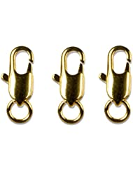 Cousin Gold Elegance 14K Gold Plate Lobster Claw, 3-Piece, 3 By 8-Inch