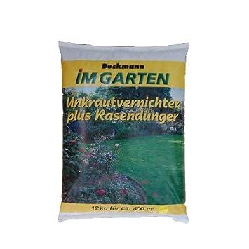 12 Kg Rasendünger Mit Unkrautvernichter Für 400m² Premium Beckmann Im Garten  FREI HAUS