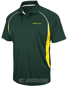 NCAA Oregon Ducks Synthetic Playmaker Polo Shirt by Chiliwear by Chiliwear LLC
