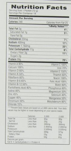 MET-Rx 巧克力口味 营养代餐粉 72g*18袋图片