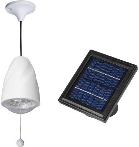 MicroSolar - High Lumen - 20 LED - Lithium Battery - Solar Shed Light  / Solar Barn Light (Chicken Coop Light compare prices)