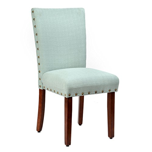 Roundhill Furniture Elliya Fabric with Nailheads Parsons