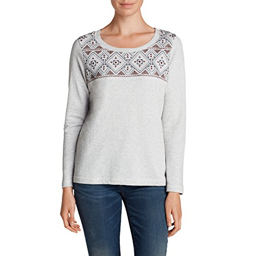 Eddie Bauer Womens Shoreline Embroidered Sweatshirt