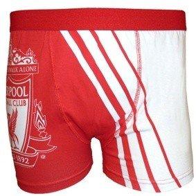 Mens Cotton Rich Liverpool FC Boxer Shorts Underwear (1 Pair) (M Waist 33-35inch (84-89cm)) (Red/White) by Liverpool