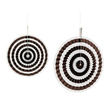 Chocolate Stripe Hanging Fans - 1