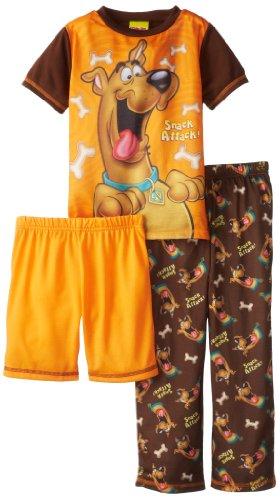 Komar Kids Big Boys' Brown Orange Scooby Doo Snack 3 Piece Set, Brown, X-Small