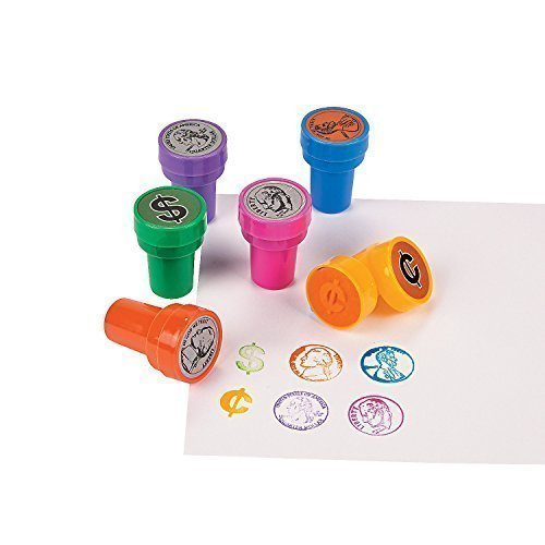 Teaching Coin Stampers, Multicolor (Set of 6 Different Stampers)