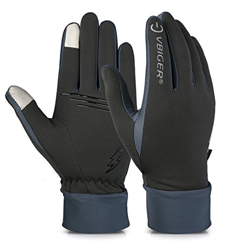 Vbiger Winter Gloves Touch Screen Gloves Outdoor Cycling Gloves For Men And Women (Grey 2, L)