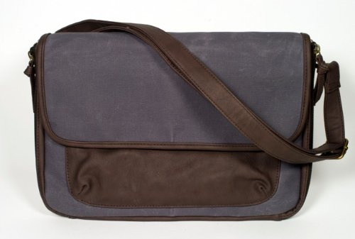 SoYoung Diaper Clutch in Waxed Canvas - Charcoal - 1