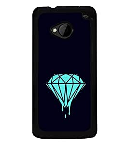 Melting Diamond 2D Hard Polycarbonate Designer Back Case Cover for HTC One :: HTC One M7