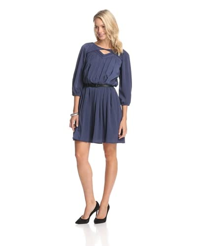 Jessica Simpson Women's Belted Dress with Pleats