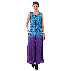 House of Tantrums Blue Tie and Dye Jumpsuit-S
