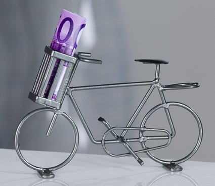 Dekoration fahrrad bike beh lter geldgeschenk - Dekoration fahrrad ...