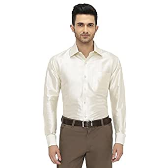 Mens full sleeve shirt 100 silk dupion material shirt for Mens silk shirts amazon