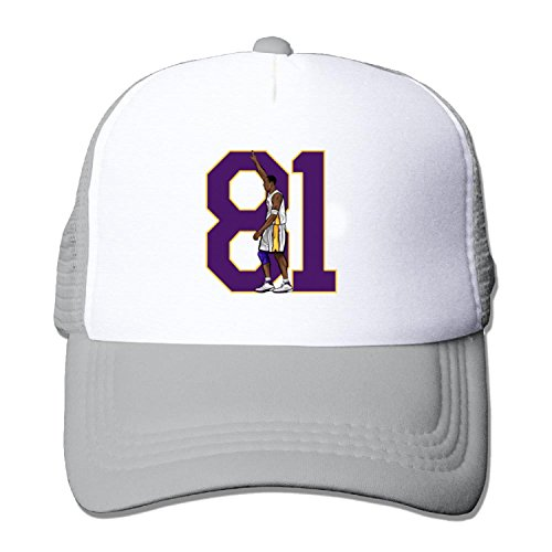 KOBE 81 Points Truck caps Cool Men Women hat Gray (5 colors) (Lakers Cheerleading Outfit)