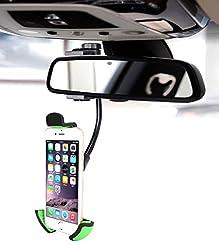 SHINEDA Car Rear View Mirror Cell Phone Mount Holder SD-310K (Holder K)