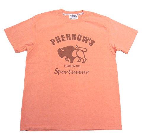 (フェローズ)PHERROW'S 半袖Tシャツ プリント 「Buffalo」 バッファロー 15s-pt2 L シダン