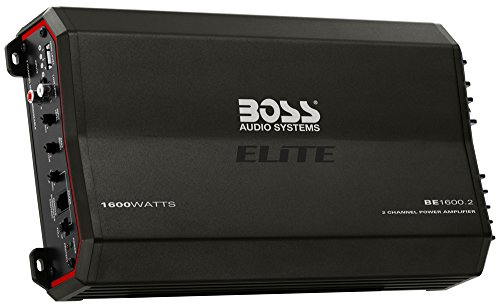 Boss Audio BE1600.2 1600W Elite Series Class A/B 2-Channel Amplifier with Remote Bass Knob (Bass Knob Boss compare prices)