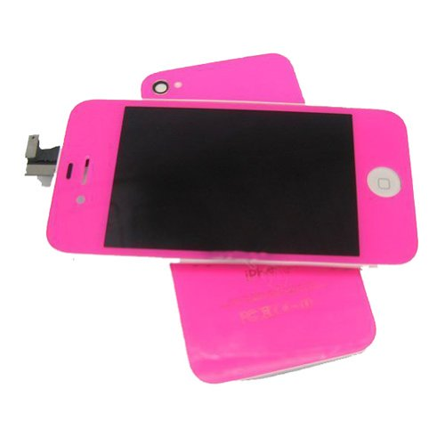 Tengfei Replacement Lcd Touch Screen With Tools Kit For Iphone 4S Bright Pink For Verizon/Sprint Cdma