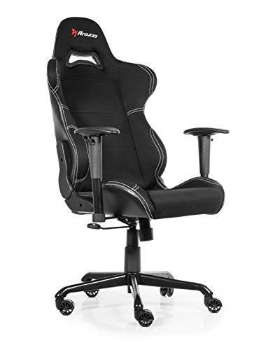 Arozzi Torretta Series Gaming Racing Style Swivel Chair, Black