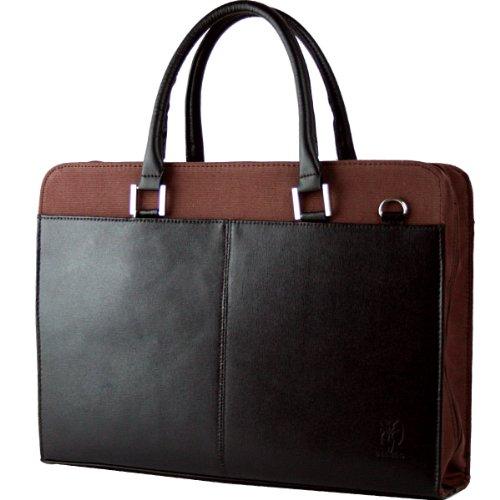 DIABLO ディアブロ ビジネスバッグ メンズ 牛革 帆布 2WAYバッグ ブラック×ブラウン 【KA-306】