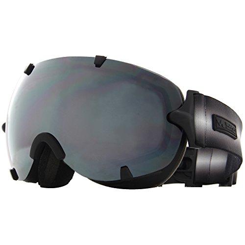 VAXPOT(バックスポット) ゴーグル 前面レンズ ダブルレンズ くもり止め加工 UVカット メンズ・レディース兼用 VA-3613 BLK(ユニセックス) フリーサイズ