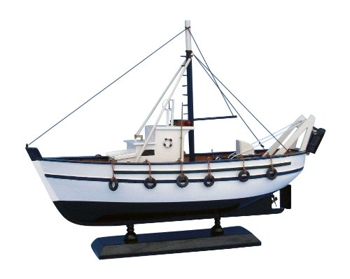 Hampton Nautical  Seaworthy Decorative Fishing Boat, 14