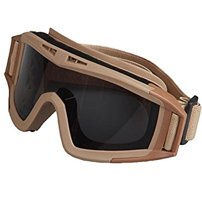 Coface Outdoor CS Windproof Bulletproof Sand-poof Riding Skiing Glasses Goggles with 3 Lenses from Coface
