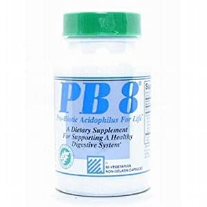 Now PB 8 Pro-Biotic Acidophilus Tablets, Vegetarian, 120-Count Bottles 60 Servings