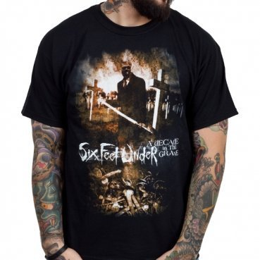 Six Feet Under - Uomo A Decade In The Grave T-Shirt in Nero, Medium, Nero