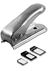 HHI Nano SIM Card Cutter with Adapter Pack - Steel (Package include a HandHelditems Sketch Stylus Pen)