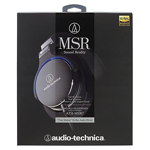 オーディオテクニカ ポータブルヘッドホン ブラック ATH-MSR7 BK