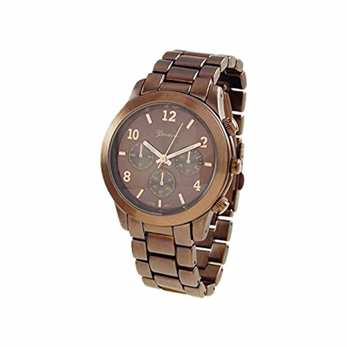 """The """"Boyfriend"""" Watch. Large Sized Ceramic Designer Style Fashion Watch With Brown Band Brown Face"""