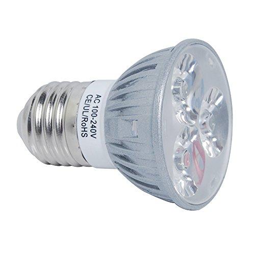 Thg 4Pcs E27 Day White 100-240V Led Energy Saving 3W Ce Rohs Bulb Lamps Spot Lights Lighting For Display Artwork Landscape Scene Spot Lighting